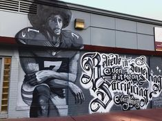 "Know Your Rights Camp posted on Instagram: ""We love to see it! 🙌🏾 @koniack + @g.fngrz_ recently completed this mural of @kaepernick7 . If…"" • See all of @yourrightscamp's photos and videos on their profile."