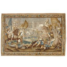 "A 17th Century Flemish Tapestry Titled ""Battle in Jerusalem"" 55k 120 in.Hx198 in.W 