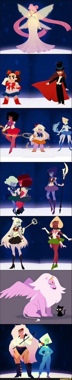 sailor moon x steven universe