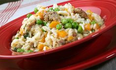 Risotto with Sausage, Butternut Squash & Peas *Must watch video for recipe*