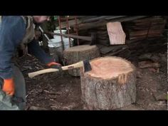 [Video] Quickly And Effectively Split Big Rounds Of Firewood, Just Tap. Tap. And Tap. - Page 2 of 2 - Brilliant DIY