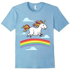 #Funny_t_shirt_designs Funny Unicorn with Rainbow Mane Dancing on Rainbows, Cartoon Comic Art, LGBT, Gay, Lesbian, Pride T-Shirt by Egoteest. Women's (up to XL), Unisex (up to 3XL) an https://egoteest.com/collections/funny-shirts/products/funny-dancing-unicorn?variant=31705623044
