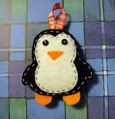 Precious penguin ornament.