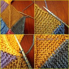 How to knit a Frau Schulz blanket - Instructions with photos. How to knit a woman . : How to knit a Frau Schulz blanket – Instructions with photos. How to knit a Mrs. Schulz blanket – Tutorial with pictures. Free Baby Blanket Patterns, Crochet Blanket Patterns, Baby Knitting Patterns, Crochet Stitches, Knit Crochet, Patchwork Blanket, Crochet Edging Tutorial, Aran Sweaters, Knitted Baby Blankets