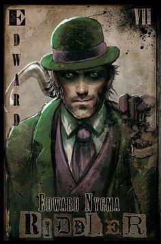 Arkham Asylum Most Wanted: Riddler Dc Comics, Comics Toons, Batman Universe, Dc Universe, Best Villains, Comic Villains, Enigma, Portrait Sketches, Arkham Asylum