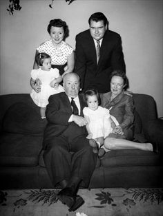 Alfred Hitchcock and family Alfred Hitchcock, Classic Hollywood, Old Hollywood, Famous Pictures, Hollywood Couples, Old Movie Stars, All In The Family, Book People, People Of Interest