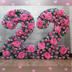 Discover thousands of images about Pink Paper Flower Wall x Extra Large Paper Flowers by PoshStudios Giant Flowers, Diy Flowers, Flower Decorations, Flower Backdrop, Flower Wall, 21st Birthday Decorations, Diy And Crafts, Paper Crafts, Tissue Paper Flowers