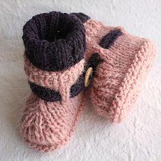 Knitting Pattern PDF file Alpaca Baby Boots от loasidellamaglia