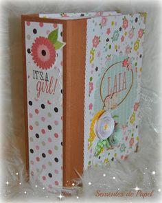 """Sementes de papel: Mini album """"Bundle of Joy, girl"""" from Echo Park"""