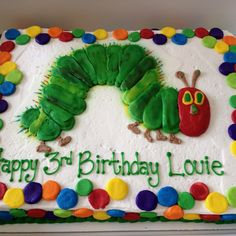 """""""The Very Hungry Caterpillar"""" cake by Lubeley's Bakery--love it!"""