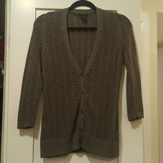 Ann Taylor gray cardigan Great for work! Ann Taylor Tops
