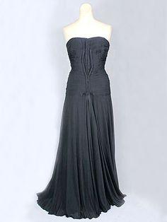 """Madame Grès silk jersey draped evening gown, c.1945. Label: """"Grès/1.Rue de la Paix/Paris."""""""