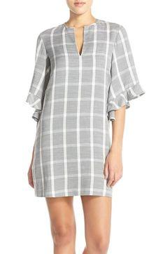 BCBGMAXAZRIA 'Tati' Windowpane Plaid Shift Dress