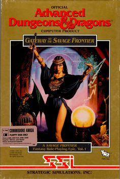 Savage Frontier vol. I - Gateway to the Savage Frontier Classic Video Games, Retro Video Games, Video Game Art, Retro Games, Dungeons And Dragons Art, Advanced Dungeons And Dragons, Arcade, Pen And Paper Games, Classic Rpg