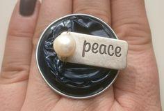"""Ringe - Fingerring """"Peace"""" aus Kaffeekapseln - ein Designerstück von Glaenzende-Aussicht bei DaWanda"""
