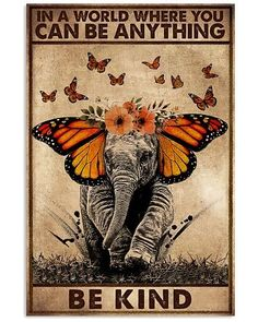 Elephant Poster, You Can Be Anything, Hippie Art, Humor Grafico, Art Plastique, Beautiful Words, Artsy, Wall Art, Drawings
