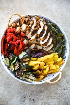 grilled chicken & veggies are the ultimate summer BBQ menu