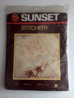 Sunset Stitchery 2866 Embroidery Kit 15 Inch Soft Sculpture Baby Girl Doll Sarah Vintage 1984