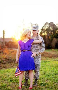 Patriotic Engagement Photos