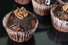 Sunflower - w wolnej chwili...: Muffinki orzechowo-czekoladowe