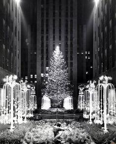 Christmas in Rockefeller Center c.1945
