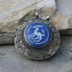 Engraved Afghan pendant - look4treasures on Etsy
