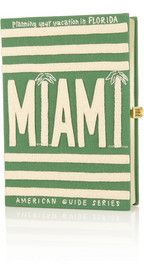 Olympia Le-Tan Planning Your Vacation in Florida: Miami embroidered clutch