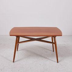 MK3794  Szögletes fa dohányzóasztal lakkozott lappal, jó állapotban /// Angled wooden coffee table with lacquered top  Méretek /// Dimensions: 95x54x55 cm  20.000.-Ft /// 67 EUR