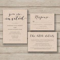 FREE Printable Wedding Invitation Template Free printable wedding
