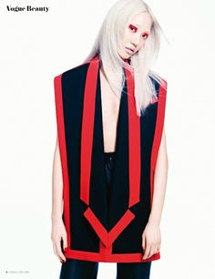 """""""Painted Red"""" Soo Joo Park for Vogue Thailand Beauty May 2015"""