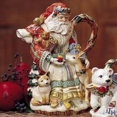Fitz and Floyd Enchanted Holiday Teapot