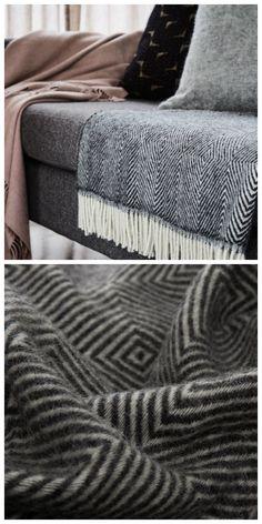 Einer unsere Lieblinge für die kalte Jahreszeit: Wolldecke Gotland aus 100% Schurwolle aus ökologischer Herstellung