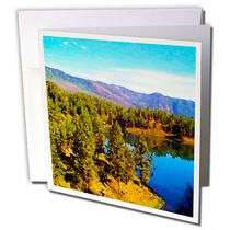 3dRose - Jos Fauxtographee Realistic - A Beautiful Lake in Colorado That you see as you Pass by on The Silverton Painted