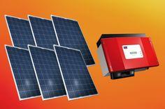 Zestaw ogniw 1,44kW Canadian Solar CS6P-240P + falownik SMA SB1200