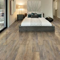 Provide depth and personality to your home decor by using this Allure ISOCORE Multi-Width Prairie Oak Trail Luxury Vinyl Plank Flooring. Luxury Vinyl Flooring, Vinyl Plank Flooring, Luxury Vinyl Plank, Timber Flooring, Hardwood Floors, Flooring Ideas, Wood Planks, Lifeproof Vinyl Flooring, Wood Vinyl