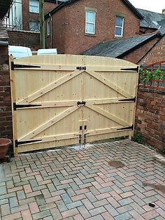 Picture 11 of 12 Building A Wooden Gate, Wooden Garden Gate, Wooden Gates, Wooden Gate Plans, Driveway Fence, Backyard Gates, Wooden Driveway Gates, Fence Gates, Wood Fences