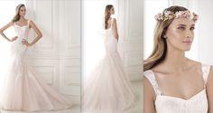 BICE Colección Glamour Vestido de estilo sirena en tul rosa con aplicaciones de encaje. Cuerpo de escote corazón con tirantes. Desde 1.870,00 €*