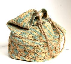 Crochet linen shoulderbag bag Linen and hemp bag Linen Bag, Hand Crochet, Hemp, Bucket Bag, Knitted Hats, Shoulder Bag, Trending Outfits, Unique Jewelry, Handmade Gifts