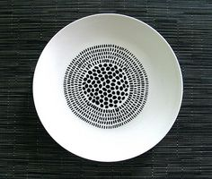 Hand-painted bowl by Natasha Newton
