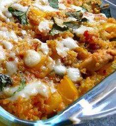 Healthy Low Fat #Quinoa Chicken Parmesan.  Click for Recipe