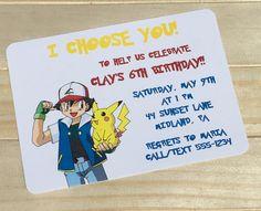 Pokemon Pikachu Birthday Invitation