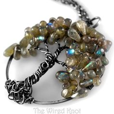 Labradorite Tree of Life in Argentium Sterling by TheWiredKnot