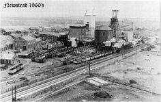 Newstead coal mine, 1960. History Pics, Steam Railway, Coal Mining, Nottingham, Britain, Childhood, Pdf, English, City