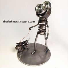 Walk the Dog Metal Art Boogie by TheDaRkMetalArtStore on Etsy