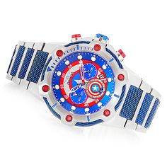 647-386 - Invicta Marvel Men's 50mm Bolt Limited Edition Quartz Chronograph Stainless Steel Bracelet Watch
