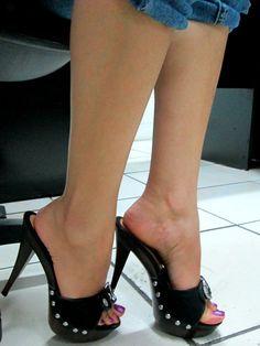 Only Stiletto Sandals Platform High Heels, Black High Heels, High Heels Stilettos, Stiletto Boots, High Heel Boots, Sexy Sandals, Sandal Heels, Gorgeous Heels, Sexy Toes