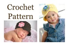 "CROCHET PATTERN, ""The Original Buttercup Beanie"" pattern #101, Baby Crochet Hat Pattern, Crochet Pattern Children, Crochet Pattern Hat, PDF by theButtercupBasket on Etsy https://www.etsy.com/listing/231536512/crochet-pattern-the-original-buttercup"
