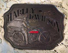 Harley-Davidson FREE SHIPPING! Linkert Tear Drop Belt Buckle Brass Patina NEW