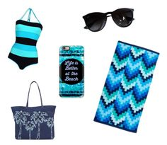 """Beach day"" by emshugie ❤ liked on Polyvore featuring Ray-Ban, Vera Bradley and Casetify"