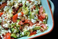 Courgettes en tomaten met feta 81 Pureed Food Recipes, Veggie Recipes, Vegetarian Recipes, Healthy Recipes, Healthy Cooking, Healthy Eating, Healthy Food, Feel Good Food, Go For It